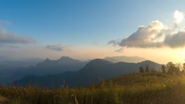 Thumbnail for Sunset On Mountain Landscape