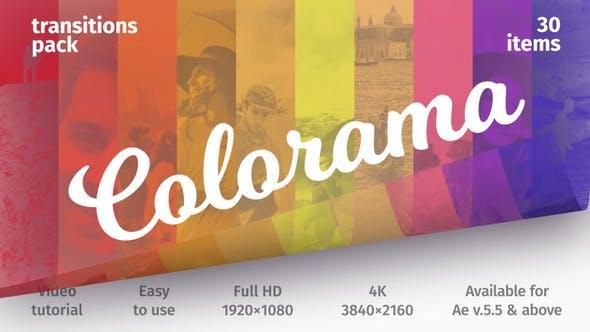 Thumbnail for Transiciones coloridas - Paquete de transiciones