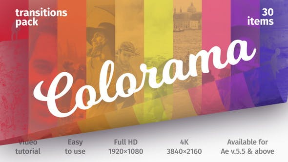 Colorful Transitions - Transitions Pack