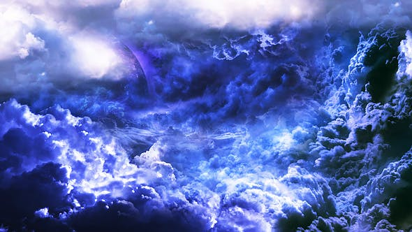 Thumbnail for Abstract Blue and Violet Clouds with Mysterious Planet and Big Star