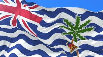 Flag of British Indian or Indian Britons Waving