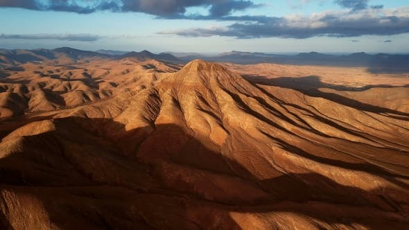 Thumbnail for Flight Over Desert Landscape, Fuerteventura Island, Spain