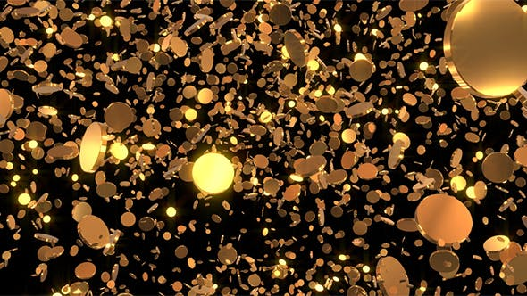 Thumbnail for Gold Coins Loop Background