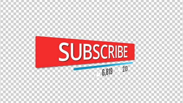 Thumbnail for Subscription Button With Likes, Dislikes and Counter Counting With Alpha Channel
