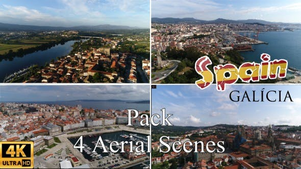 Thumbnail for Spanish Cities Aerial View