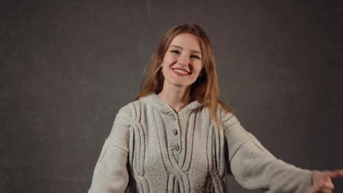 Smiling Female Blogger