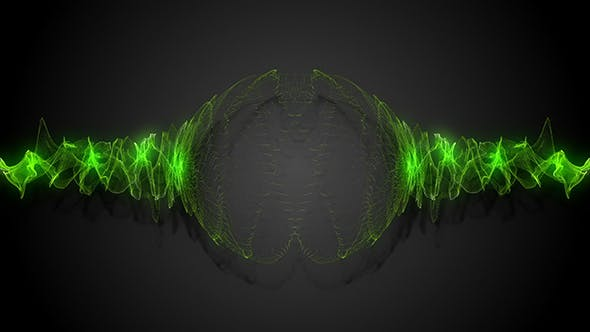 Thumbnail for Green Energy Audio Spectrum Particles Background