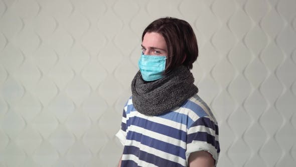 Cover Image for Sick Man Wears Mask