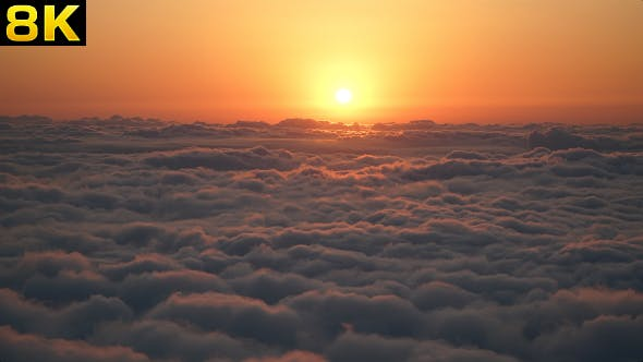 Thumbnail for Amazing Sunset Above the Clouds
