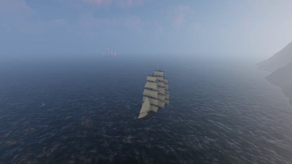 Thumbnail for Sailing Ship with Fog