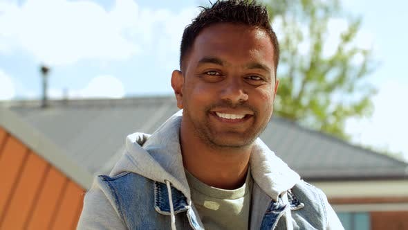 Thumbnail for Portrait of Smiling Indian Man on Roof Top