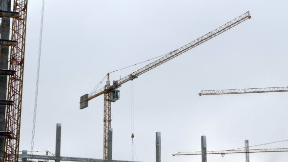 Thumbnail for Construction Crane Working Tower Building