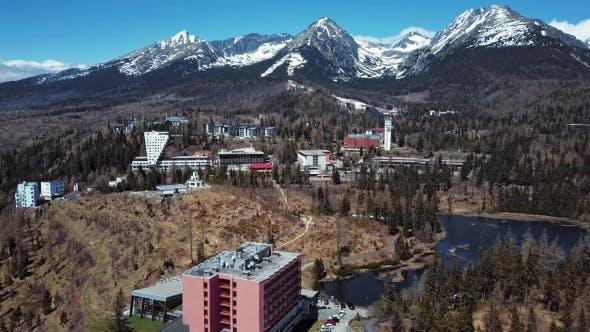 Thumbnail for Flight Over Strbske Pleso Resort in High Tatras Mountains, Slovakia