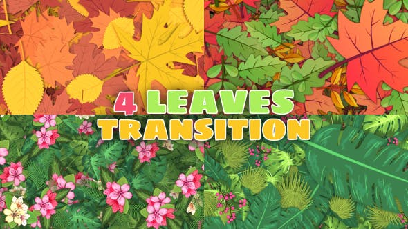 Thumbnail for Leaves Transitions 4 Pack 4K