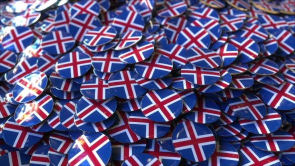 Thumbnail for Pile of Badges Featuring Flags of Iceland