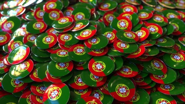 Thumbnail for Pile of Badges Featuring Flags of Portugal