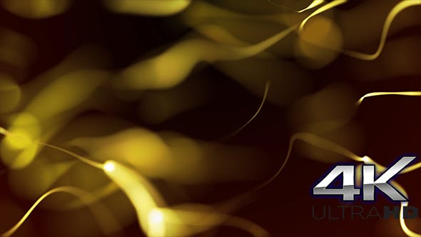 Thumbnail for Elegant Gold Flowing Particles Background