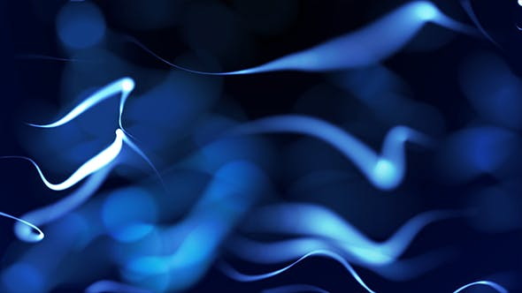 Thumbnail for Elegant Blue Flowing Particles Background