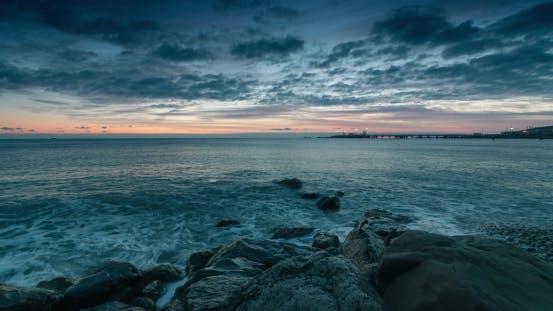 Thumbnail for Sunset on City Beach in Tupase. Black Sea Coast