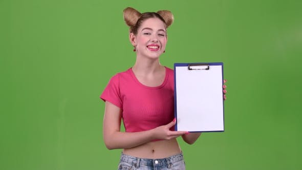 Thumbnail for Teenager Advertises a Tablet for Paper