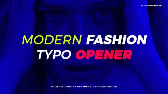 Thumbnail for Modern Fashion Typo Opener