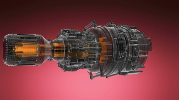 Cover Image for Loop Rotate Jet Engine Turbine