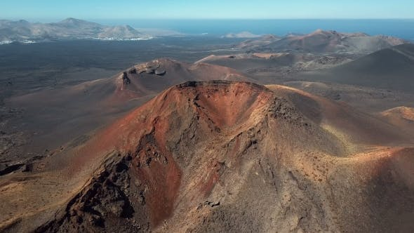 Flying Over Volcanoes, Canary Islands