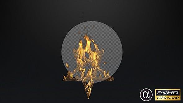 Star Symbol On Fire