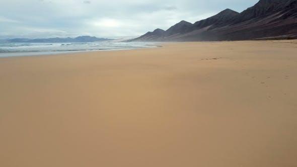 Thumbnail for Flight Over Desert Beach on Fuerteventura Island, Spain