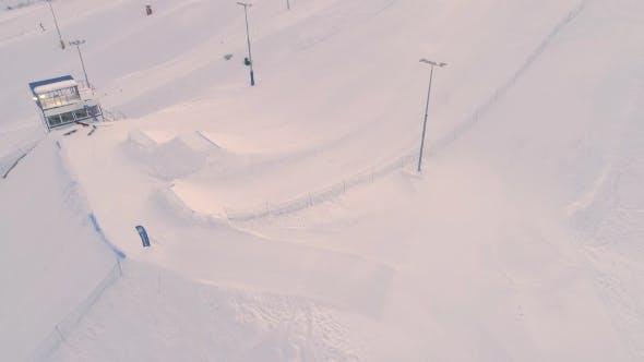 Snowboard-Wettbewerb Big Air
