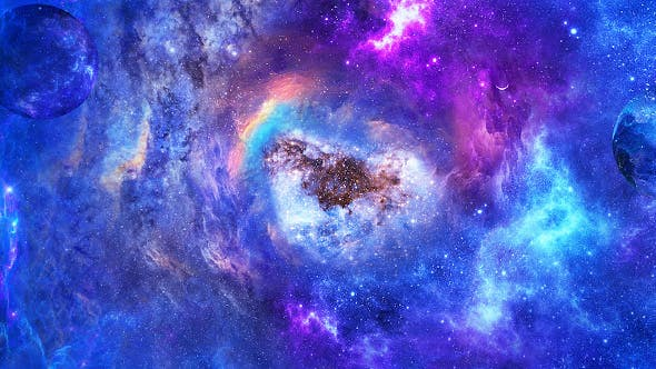Thumbnail for Travel Through Abstract Space Nebulae with Planets and Energy Flare