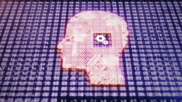 Thumbnail for Circuit Board Head with Hex As a Symbol of Thinking Process