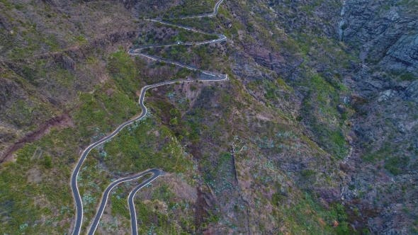 Thumbnail for Winding Road Near Masca Gorge