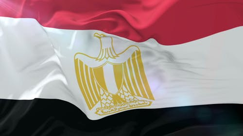 Flag of Egypt Waving