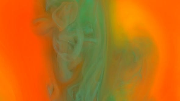 Thumbnail for Footage. Abstract Background. Liquid Ink Colors Blending Burst Swirl Fluid