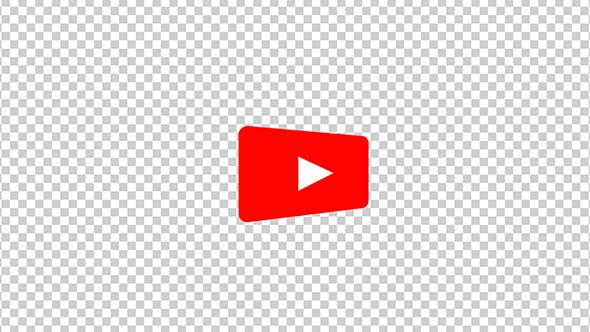 Thumbnail for The Youtube Logo Transforms Into a Subscribe Button With Alpha Channel
