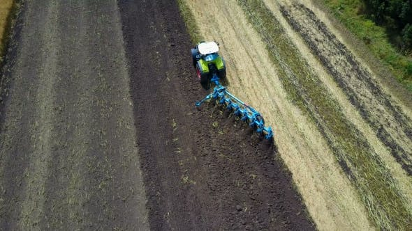 Thumbnail for Tractor Working In The Agricultural Field