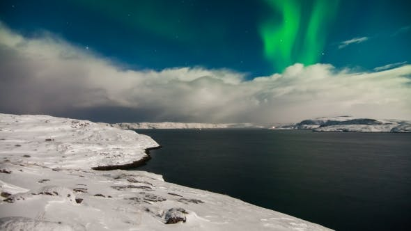 Thumbnail for Aurora Borealis Above the Barents Sea