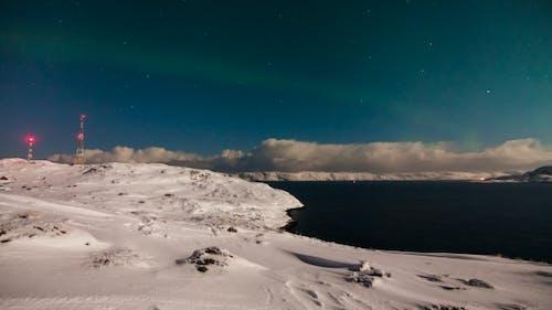 Aurora Borealis Above the Barents Sea