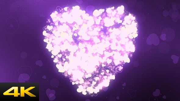 Thumbnail for Purple Wedding Hearts