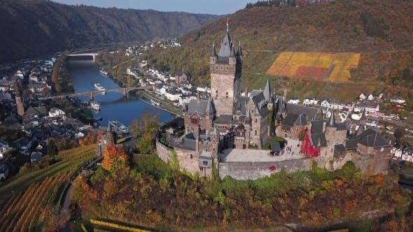 Thumbnail for Flight Over Cochem Castle, Germany.