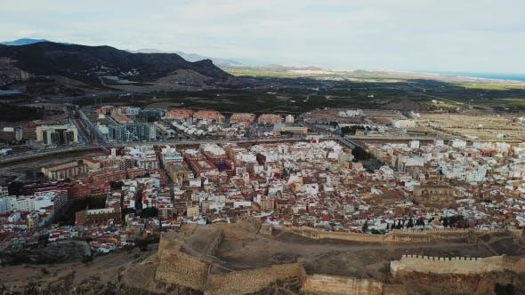 Thumbnail for View From Air on Castle Sagunto Near Valencia