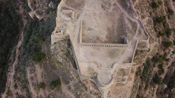 Cover Image for View From Air on Castle Sagunto Near Valencia