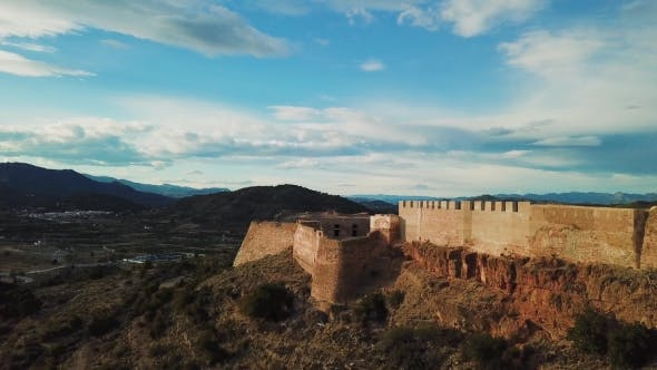 Thumbnail for View from Air on Castle Sagunto near Valencia
