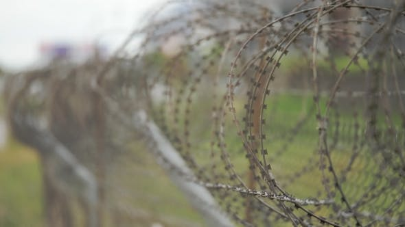 Thumbnail for Barbed Wire Fence at the Airport - Georgia