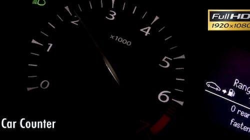 Car Counter Clock Tachometer