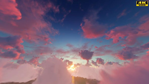 Thumbnail for Sunset Fly Though Clouds