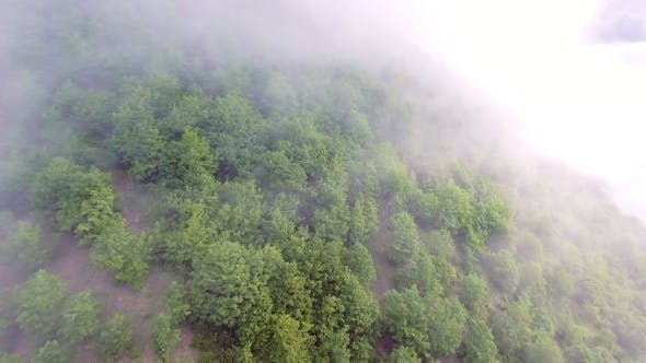 Thumbnail for Aerial View of the Mountains with a Morning Fog