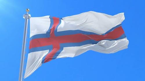 Flag of the Faroe Islands Waving