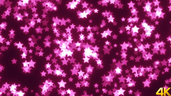 Cover Image for Abstract Pink Stars Background